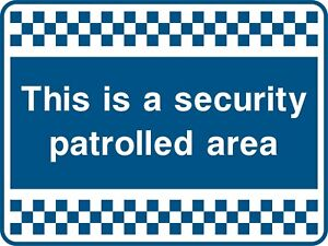 SAFETY SIGN Blue Security Signs -  Adhesive Waterproof Exterior Vinyl Sticker