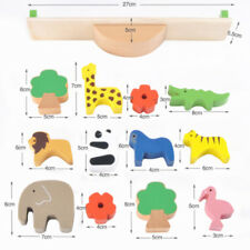 Wooden Montessori Kids Toy Animals Educational Balance Baby Wood Learning Gift S