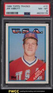 1988 Topps Traded Jim Abbott ROOKIE RC #1T PSA 8 NM-MT