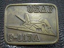 F-117A USAF NIGHTHAWK STEALTH PLANE BELT BUCKLE! VINTAGE! VERY RARE! LOOK!