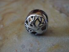 Edelstahl Bead Element Rund Lebensbaum Fb Antiksilber Silber für Armband 1440