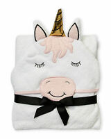 HUDSON BABY TOWEL HOODED BABY GIRLS - UNICORN PINK