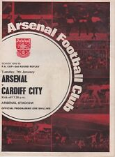 ARSENAL v CARDIFF CITY ~ FA CUP 3RD ROUND REPLAY ~ 7 JANUARY 1969