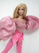 Dusty Rose Top & Sparkle Pink Tighs by KK Fits Fashion Royalty FR16 inch, Poppy