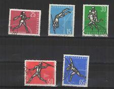Yougoslavie 1962 athlétisme à Belgrade 5 timbres oblitérés  /T2140