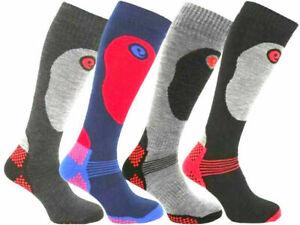 1-2 PAIR SKI SOCKS MENS HIKING LONG WARM WALKING SOCK 6-11 THERMAL SOCK