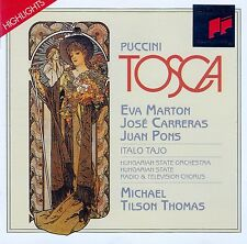 PUCCINI : TOSCA - HIGHLIGHTS - TILSON THOMAS / CD - TOP-ZUSTAND