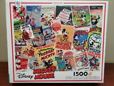 Disney Mickey Mouse Vintage Comic Cover 1500 Pieces Jigsaw Puzzle Ceaco New