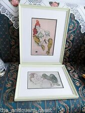 Egon Schiele pair of framed EROTIQUE prints, Austrian  (1890-1918)[passil]