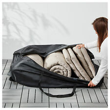 Cojín de Ikea tostero Negro Impermeable al aire libre bolsa de almacenamiento de información (116x49cm)