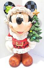 "Jim Shore SANTA MICKEY MOUSE Disney Christmas figurine porch greeter statue 17"""