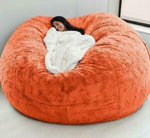 Microsuede 7ft Foam Giant Bean Bag COVER For Memory Living Room Chair Lazy Sofa