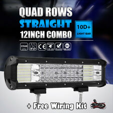 "Quad Row 1128W 12Inch Led Work Light Bar Spot Flood Offroad 4x4 Truck ATV 14""16"""
