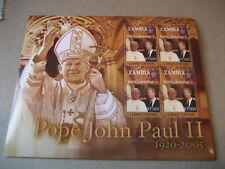 Zambia 2005 El Papa Juan Pablo II (1920-2005) Pliego