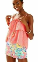 NWT LILLY PULITZER NEW $118 Coral Reef Mays Top XS
