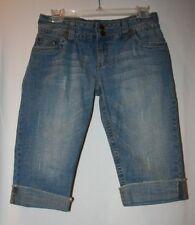 Hydraulic Juniors Size 9 10 Light Wash 5 Pocket Denim Jean Cropped Capris