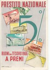 A2684) PRESTITO NAZIONALE 5% BUONI DEL TESORO 1966 A PREMI.