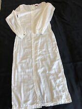 Magnifique Robe Longue Blanche Manches Longues GAULTIER  JEANS Taille 40