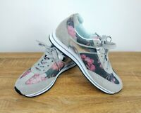 Scholl Women's Memory Cushion Floral Patterned Leather Sneakers Trainers UK 6 RR