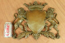 Real Bronze Metal Plaque Middle Ages Family Crest Coat of Arms Shield Heraldic