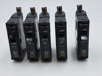 5Pc Square D QOB120 Circuit Breaker 20A 1P 120/240V 10kA QOB QOB-120 20 Amp Lot
