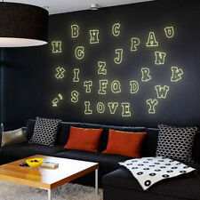 Alphabets Letters Glow In Dark Luminous Wall Stickers Kids Children Home Decor
