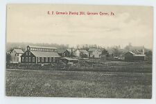 EF German's Planing Mill GERMANS CORNER PA Lehigh County Pennsylvania Postcard