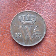 Netherlands 1873 copper cent