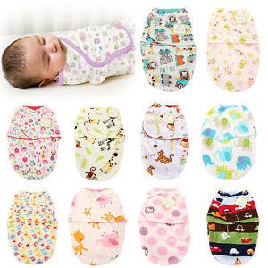 Newborn Baby Toddler Swaddle Wrap Blanket Sleeping Bag Sleep Sack Bedding UK