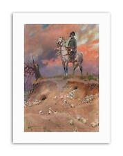 KOSSAK NAPOLEON BONAPARTE BATTLEFIELD Painting Portrait Canvas art Prints