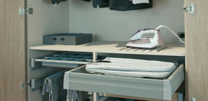 Ironfix Lateral Mounted Ironing Board in Drawer