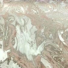 Marble Swirl Effect Glitter Metallic Shimmer Wallpaper Rose Gold Pink Textured