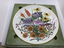 1978 Vintage Franklin Porcelain September Flowers Plate Wedgwood Rhs England