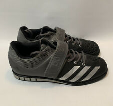 Adidas Powerlift 3 Weight Lifting Shoes Size 11.5 AQ3330 Lace Strap Black Silver