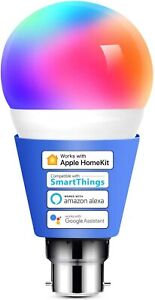 Alexa Light Bulb WiFi Smart B22 Bayonet Dimmable Warm Light Meross 60w multicolo