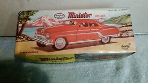1950s / 1960s Minister Deluxe Tin Plate Car (gray), Boxed,