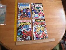 The Avengers 199 200 201 203 comic book lot 1980 Bronze Age VG-VF
