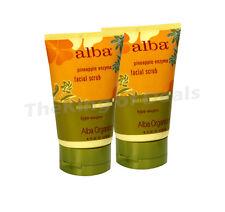 2 Pk - Alba Botanica Hawaiian, Pineapple Enzyme Facial Scrub, 4 oz.