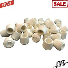 8753E Leg Tips 3/4-Inch Inside Diameter Rubber Chair Leg Caps, 24 Pack, White