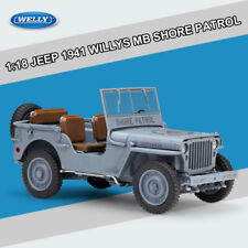 1:18 JEEP 1941 WILLYS MB SHORE PATROL Diecast Model Vehicle Toys+FREE SMALL GIFT