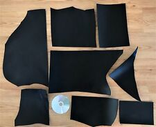 1 KG BLACK VEG TANNED LEATHER 2.5 mm thick HIDE REMNANTS TOOLING COWHIDE SCRAP