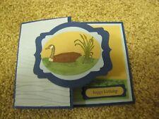Goose Moon Lake Birthday/dad/Frineds/note Handmade Card Kit 4 some stampin up