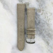 Suede Leather Watch Strap - Taupe - 18mm/20mm