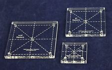 "Square Quilt Templates. 1/8"" 1"", 2"", 2.5"" - Clear"