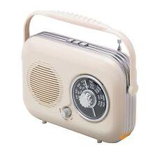 CREAM RETRO VINTAGE FM MW LW ANALOGUE TUNER RADIO