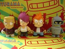 Kidrobot Futurama Series 1 Set Of 4 Fry Bender Leela Zapp Vinyl Figures Dunny