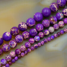 Natural Sea Sediment Jasper Gemstone Round Beads 16'' 4mm 6mm 8mm 10mm 12mm