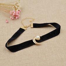 Sailor Moon Choker Perle Modeschmuck Halskette Halsband Kropfband Samt Deko Mond