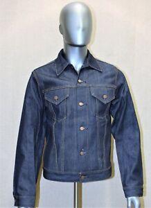 LEVIS raw denim trucker jacket brut vintage 90's neuve rigid 46 FR made in USA