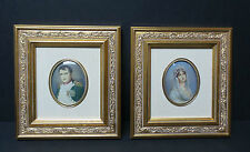 PAIR 19th C. PAINTINGS ON PORCELAIN NAPOLEON & JOSEPHINE PORTRAITS, SIGNED